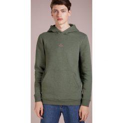 Holzweiler HANGER HOODIE Bluza z kapturem green melange. Zielone bluzy męskie rozpinane Holzweiler, m, z bawełny, z kapturem. Za 719,00 zł.