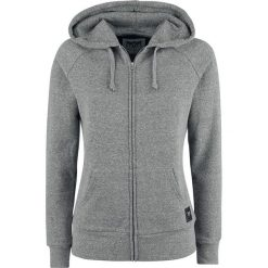 Bluzy rozpinane damskie: Black Premium by EMP Farther Along Bluza z kapturem rozpinana damska szary