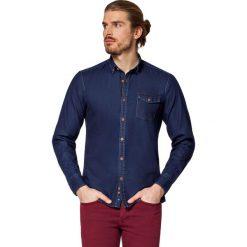 Koszula Jeansowa Granatowa Richmond. Brązowe koszule męskie jeansowe LANCERTO, m, z kontrastowym kołnierzykiem. W wyprzedaży za 199,90 zł.