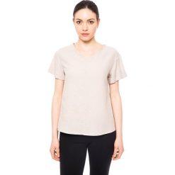 Bluzki damskie: Koszulka w kolorze beżowym