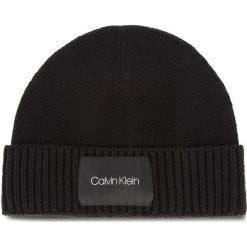 Czapka CALVIN KLEIN - Cuff Beanie K50K504093 001. Czarne czapki męskie Calvin Klein, z materiału. Za 179,00 zł.