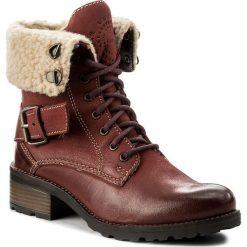 Botki LASOCKI - WI20-SURI2-01 Czerwony Ciemny. Czerwone buty zimowe damskie Lasocki, z nubiku, na obcasie. Za 199,99 zł.