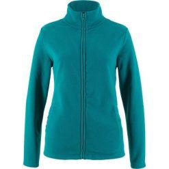 Bluza rozpinana z polaru z wpuszczanymi kieszeniami bonprix kobaltowo-turkusowy. Niebieskie bluzy sportowe damskie bonprix, z polaru. Za 37,99 zł.