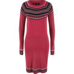 Sukienka dzianinowa bonprix pomarańczowo-czerwony wzorzysty. Czerwone sukienki dzianinowe marki Mohito, l. Za 89,99 zł.