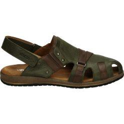 Sandały męskie skórzane: Sandały męskie - 803 PEL VERD