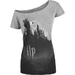 Bluzki asymetryczne: Harry Potter Hogwarts Koszulka damska szary