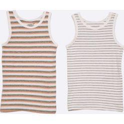Name it - Top dziecięcy 86-104 cm (2-pack). Szare bluzki dziewczęce Name it, z bawełny, z okrągłym kołnierzem. W wyprzedaży za 29,90 zł.