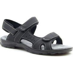 Sandały męskie: Sandały męskie na rzepy czarne Hasby