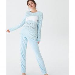 Dwuczęściowa piżama z niedźwiadkiem - Niebieski. Niebieskie piżamy damskie House, l. Za 89,99 zł.
