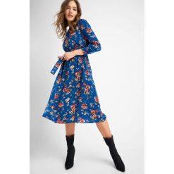 Odzież damska: Sukienka midi w kwiaty