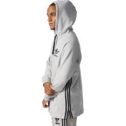 BLUZA ADIDAS Z KAPTUREM LONG HOODIE SZARA BK5882. Szare bluzy męskie rozpinane marki Adidas, m, z kapturem. Za 199,00 zł.