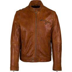 Kurtki męskie: Skórzana kurtka w kolorze jasnobrązowym