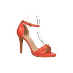 Sandały Casu  SANDAŁY  YS8736. Czerwone sandały trekkingowe damskie marki Melissa, z kauczuku. Za 39,99 zł.