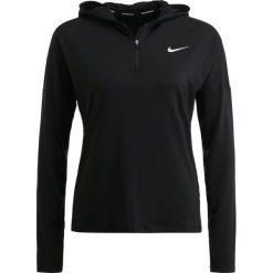 Nike Performance RUNNING HOODY DRY Koszulka sportowa black/reflective silver. Czarne t-shirty damskie Nike Performance, xl, z elastanu, z długim rękawem. W wyprzedaży za 181,30 zł.
