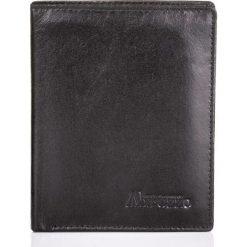SKÓRZANY PORTFEL MĘSKI ABRUZZO SLIM. Czarne portfele męskie Abruzzo. Za 49,00 zł.