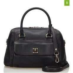 Torebki klasyczne damskie: Skórzana torebka w kolorze czarnym – 30 x 19 x 17 cm