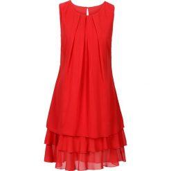 Sukienki hiszpanki: Sukienka szyfonowa bonprix czerwony
