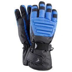 Rękawiczki męskie: Rękawiczki narciarskie w kolorze szaro-niebieskim