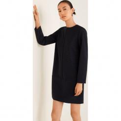 Mango - Sukienka Eva2. Szare długie sukienki marki Mango, na co dzień, l, z elastanu, casualowe, z okrągłym kołnierzem, z długim rękawem, proste. Za 199,90 zł.