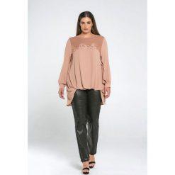 Bluzy rozpinane damskie: Bluza z okrągłym dekoltem, jednokolorowa, długi rękaw