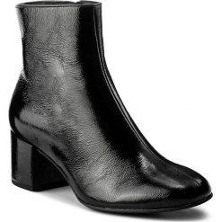 Botki HÖGL - 4-104125 Black 0100. Czarne botki damskie na obcasie marki HÖGL, z materiału. W wyprzedaży za 419,00 zł.