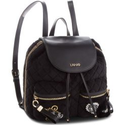 Plecak LIU JO - M Backpack Brentave N68062 T9093 Nero 22222. Czarne plecaki damskie Liu Jo, z materiału, klasyczne. Za 599,00 zł.