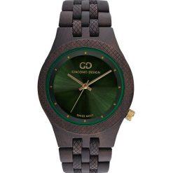 Zegarek Giacomo Design Drewniany męski GD08902. Czarne zegarki męskie Giacomo Design. Za 429,00 zł.