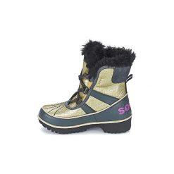 Śniegowce Dziecko Sorel  YOUTH TIVOLI. Żółte buty zimowe chłopięce Sorel. Za 279,20 zł.