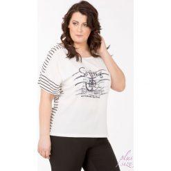 T-shirty damskie: T-shirt w marynarskim stylu Plus