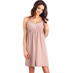 Koszulka ciążowa i do karmienia Juliet. Czerwone bielizna ciążowa marki Astratex, w koronkowe wzory, z wiskozy. Za 120,55 zł.