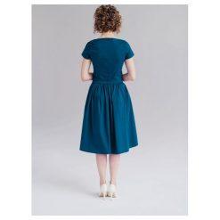 Sukienki: Sukienka Melia turkusowa (niższa talia) 32