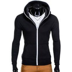 Bluzy męskie: BLUZA MĘSKA ROZPINANA Z KAPTUREM B603 – CZARNA