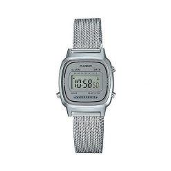 Zegarek Casio Damski Retro LA670WEM-7EF srebrny. Szare zegarki damskie CASIO, srebrne. Za 197,00 zł.