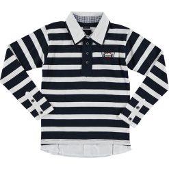 T-shirty chłopięce z długim rękawem: Koszulka polo w kolorze granatowo-białym
