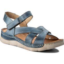 Rzymianki damskie: Sandały WASAK - 0494 Jeans