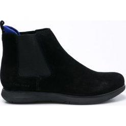 Calvin Klein Jeans - Półbuty. Czarne półbuty skórzane męskie marki Calvin Klein Jeans, z okrągłym noskiem. W wyprzedaży za 359,90 zł.