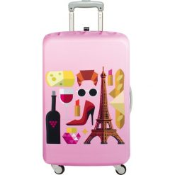 Pokrowiec na walizkę LOQI Hey Paris. Różowe walizki marki LOQI, z elastanu. Za 114,00 zł.