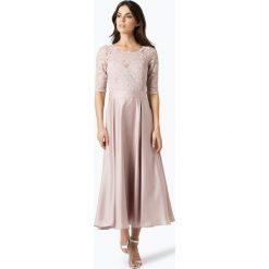 Swing - Damska sukienka wieczorowa, beżowy. Brązowe sukienki balowe marki Swing, l, w koronkowe wzory, z koronki. Za 499,95 zł.