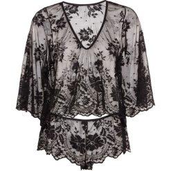 Bielizna: Koszulka z długim rękawem + figi panty (2 części) bonprix czarny