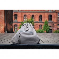 Skórzana torba typu worek XL - gualityart. Szare torebki klasyczne damskie Pakamera, duże. Za 240,00 zł.