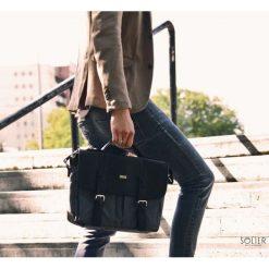 Miejska szara torba na ramię ARIAN. Szare torby na ramię męskie marki Solier, w paski, z jeansu. Za 199,90 zł.