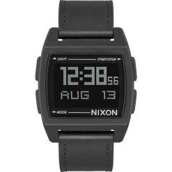 Zegarek unisex Nixon Base Leather All Black A1181-001. Czarne zegarki damskie Nixon. Za 449,00 zł.