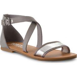 Rzymianki damskie: Sandały TOMMY JEANS – Metallic Flat Sandal EN0EN00206  Silver 000