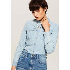 Denimowa koszula - Niebieski. Niebieskie koszule damskie marki House, l. Za 69,99 zł.