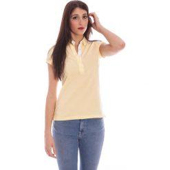 Bluzki damskie: Koszulka polo w kolorze jasnożółtym