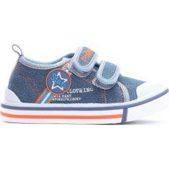 Niebieskie Trampki Star Boy. Niebieskie buty sportowe chłopięce Born2be, z materiału, retro, z okrągłym noskiem. Za 49,99 zł.
