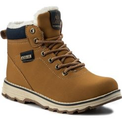 Buty zimowe chłopięce: Trapery ACTION BOY – CP07-16828-03 Miodowy
