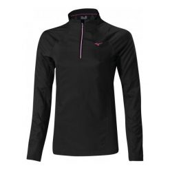 Bluzy damskie do biegania: Mizuno Bluza Do Biegania Breath Thermo Windtop W Black S