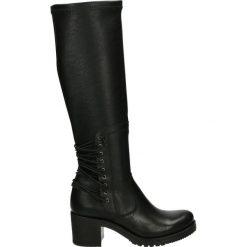 Kozaki - 1501 VITE NER. Czarne buty zimowe damskie marki Venezia, z materiału, na obcasie. Za 439,00 zł.