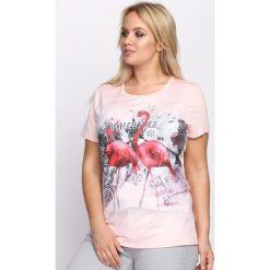 Różowa Bluzka Quarrelsome. Czerwone bluzki asymetryczne Born2be, l. Za 39,99 zł.